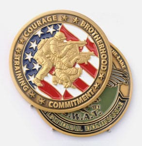 Two Sided Color Challenge Coins
