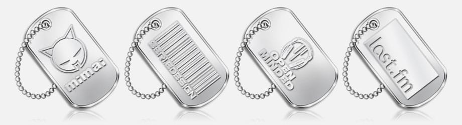 Embossed Style Dog Tags
